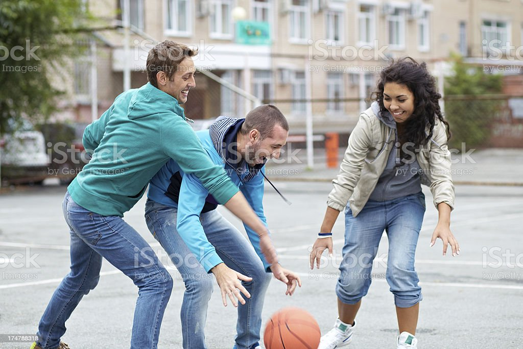 Outdoor basketball royalty-free stock photo
