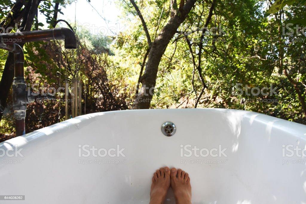 outdoor bath – Foto
