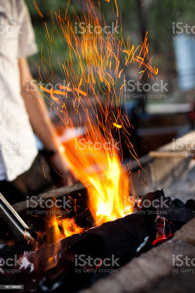 Outdoor BBQ Grill royalty-free stock photo