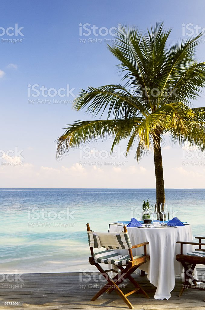Im beach restaurant – Foto