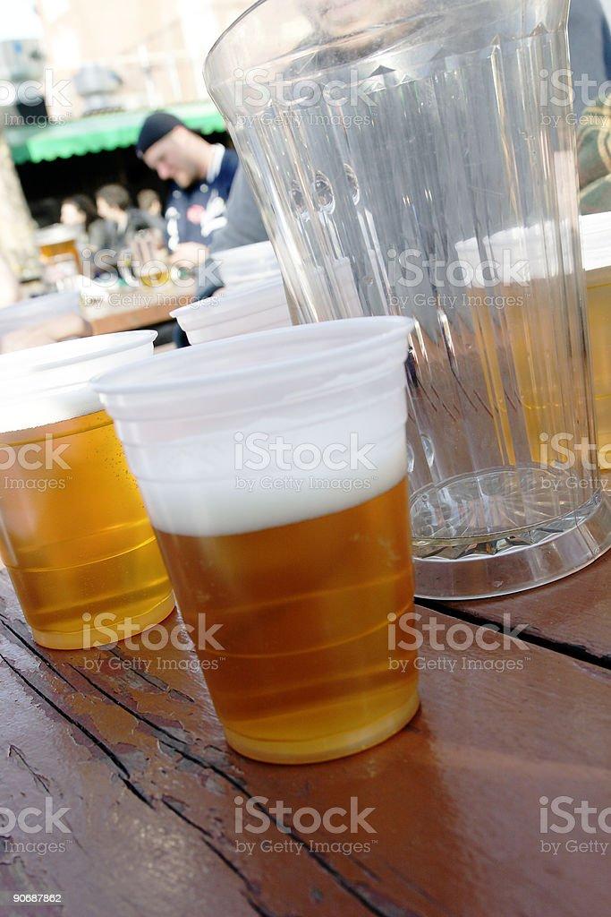 Outdoor Beer Garden (Bohemian Hall) - Astoria, Queens stock photo