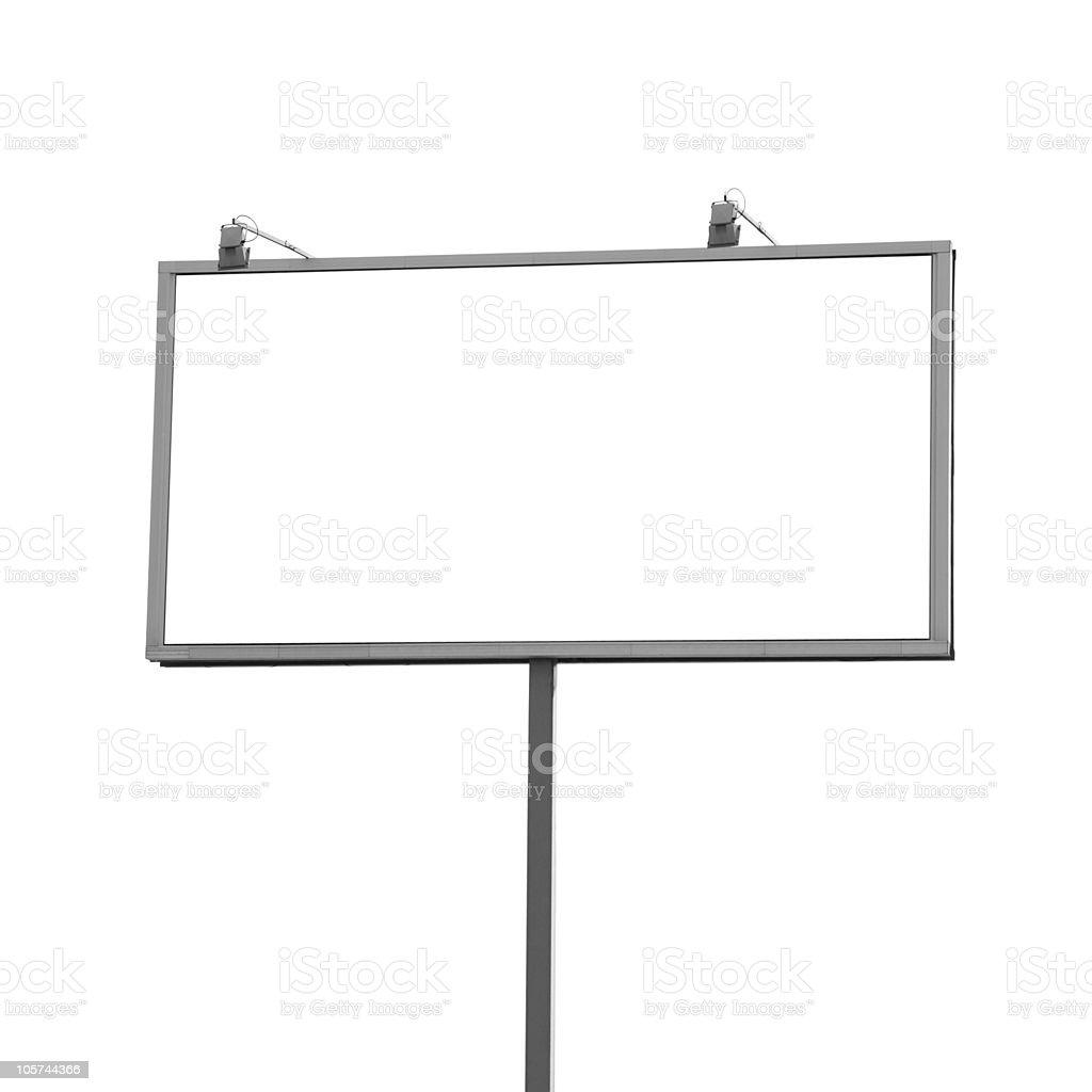 Outdoor billboard isolated stock photo