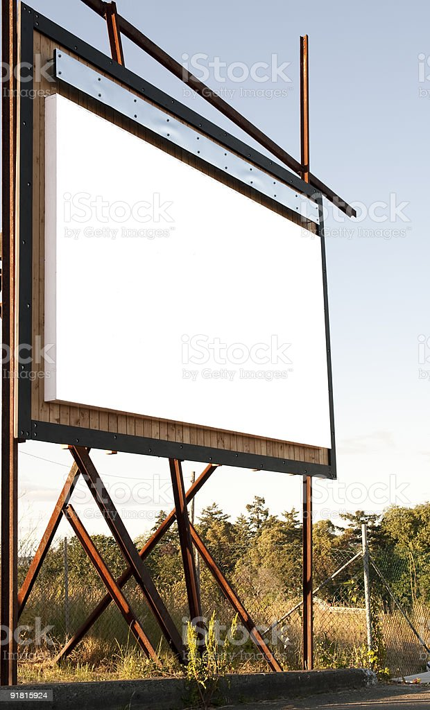 Outdoor Billboard royalty-free stock photo
