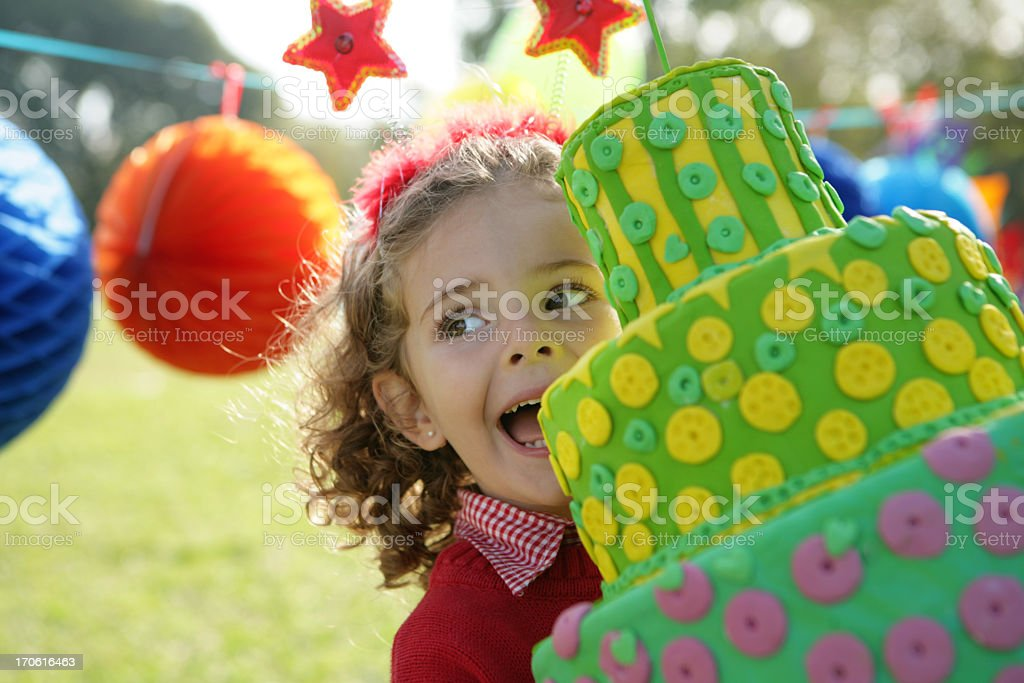 outdoor birthday's party royalty-free stock photo