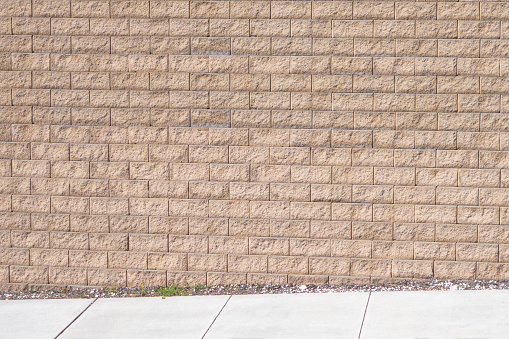 outdoor brick wall and walkway floor