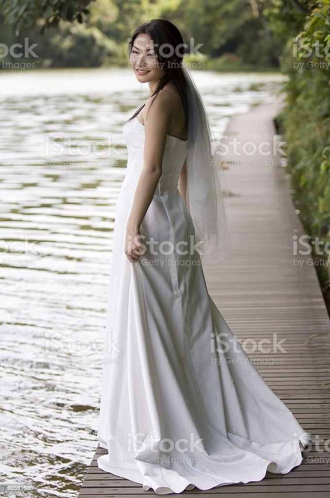 Outdoor Bride 5 royalty-free stock photo