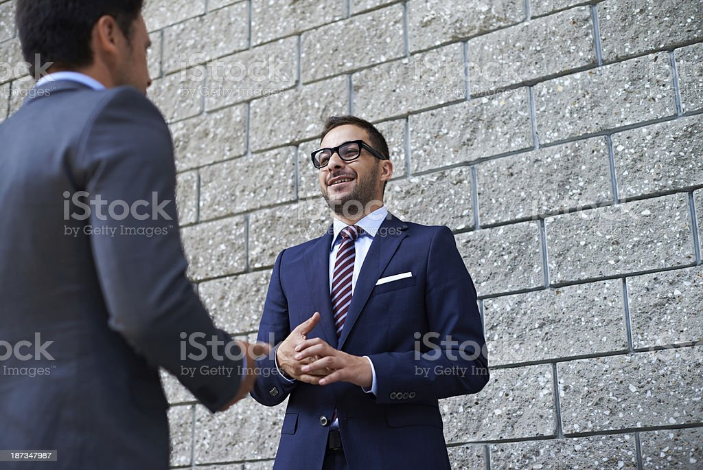 Outdoor business conversation royalty-free stock photo
