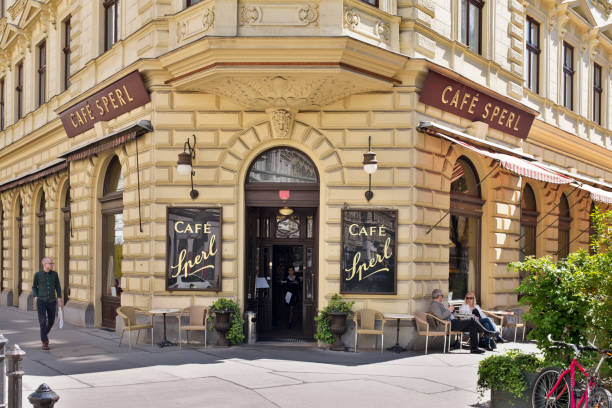 Café Sperl exterior stock photo