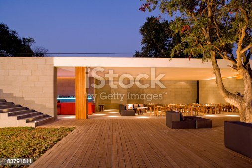 Outdoor Cafe Bar At Sunset. Please click on the banner below and visit my private lightbox With over 100 more photos in this category: