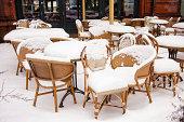 istock Outdoor cafe in winter 187198261