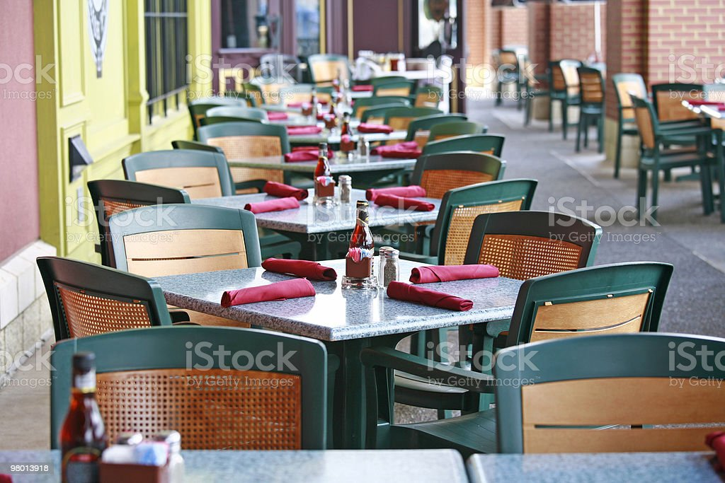 Outdoor Cafe royalty free stockfoto