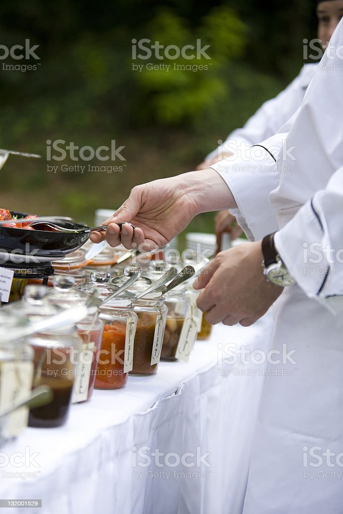 Outdoor catering royalty-free stock photo