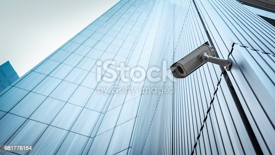 istock Outdoor CCTV Security camera 681776154