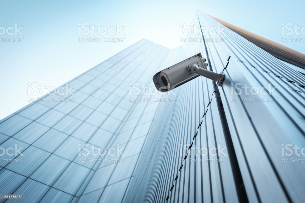Outdoor CCTV Security camera stock photo