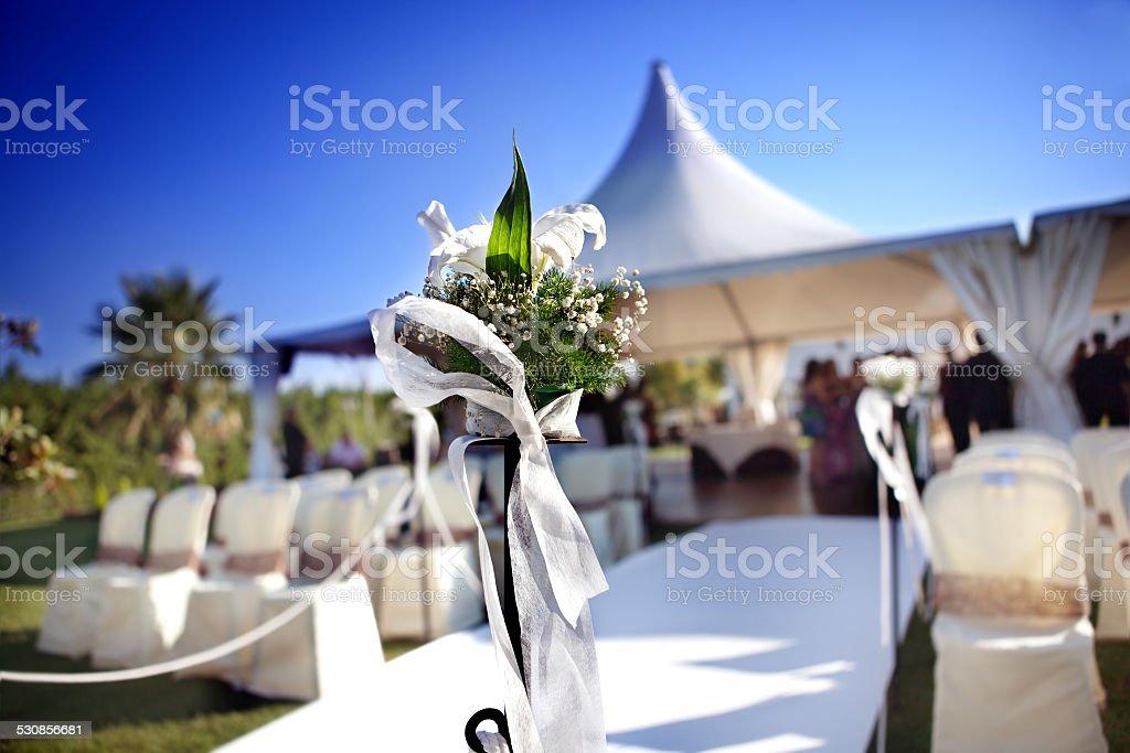 Outdoor ceremony stock photo