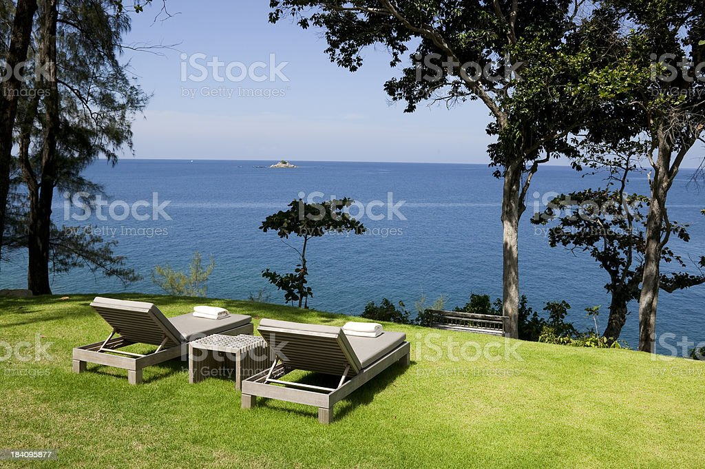 outdoor chair furniture in back yard