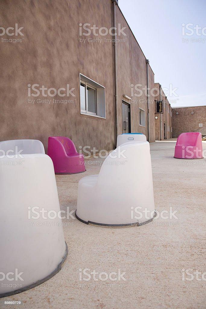 Al aire libre y sillas foto de stock libre de derechos