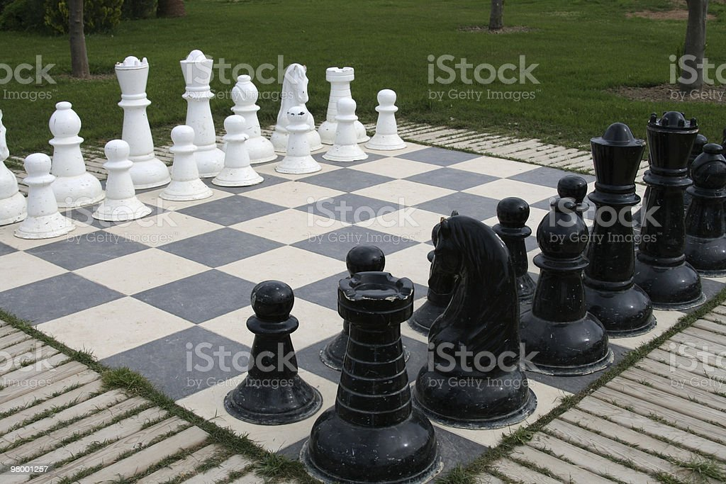 Outdoor chess royalty-free stock photo