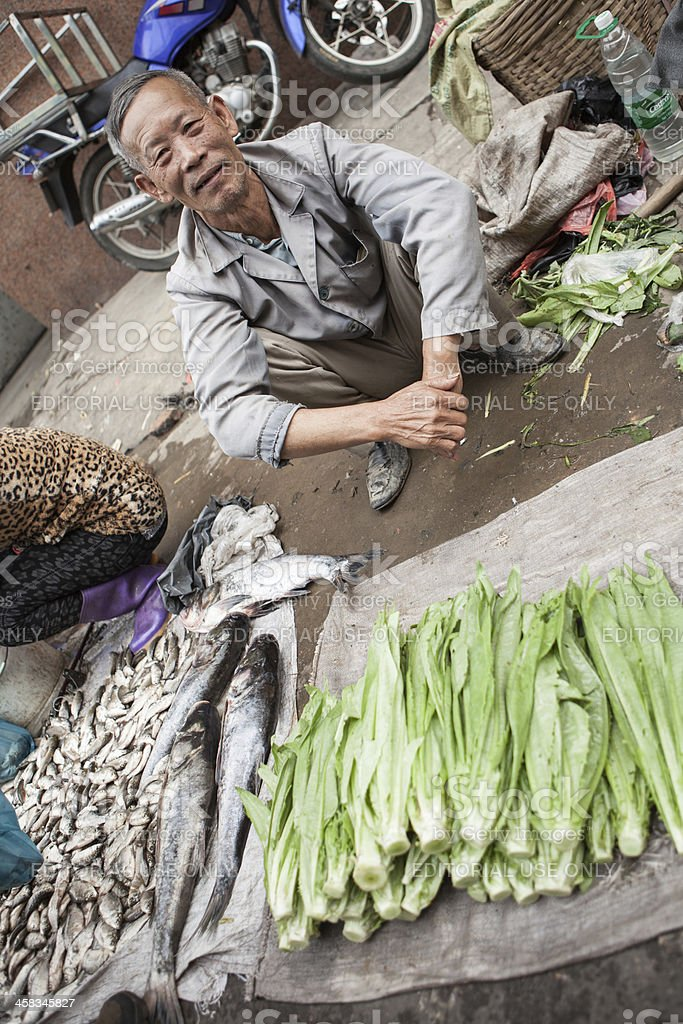 Outdoor Chinese market stock photo