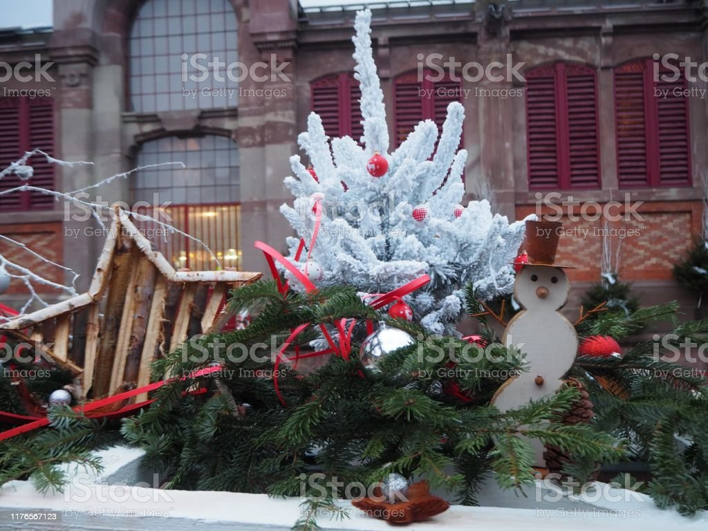 Outdoor Christmas Decorations Stock Photo Download Image Now Istock
