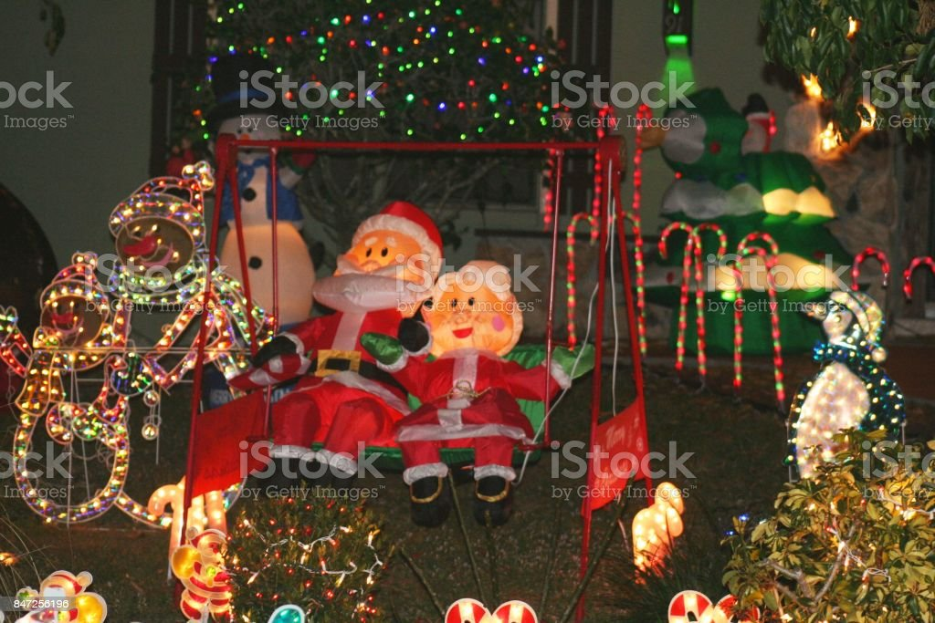 outdoor christmas decorations royalty free stock photo - Outdoor Blow Up Christmas Decorations