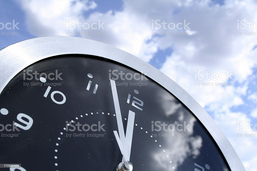 outdoor clock stock photo