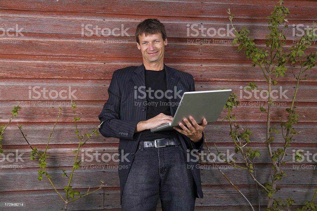 Outdoor Computing royalty-free stock photo