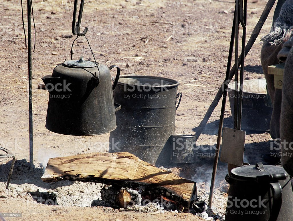 outdoor cooking 1 royalty-free stock photo