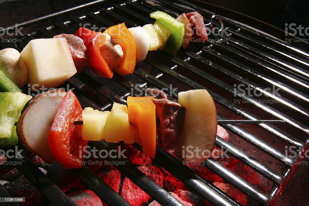 Outdoor Cooking- Shish Kebab royalty-free stock photo