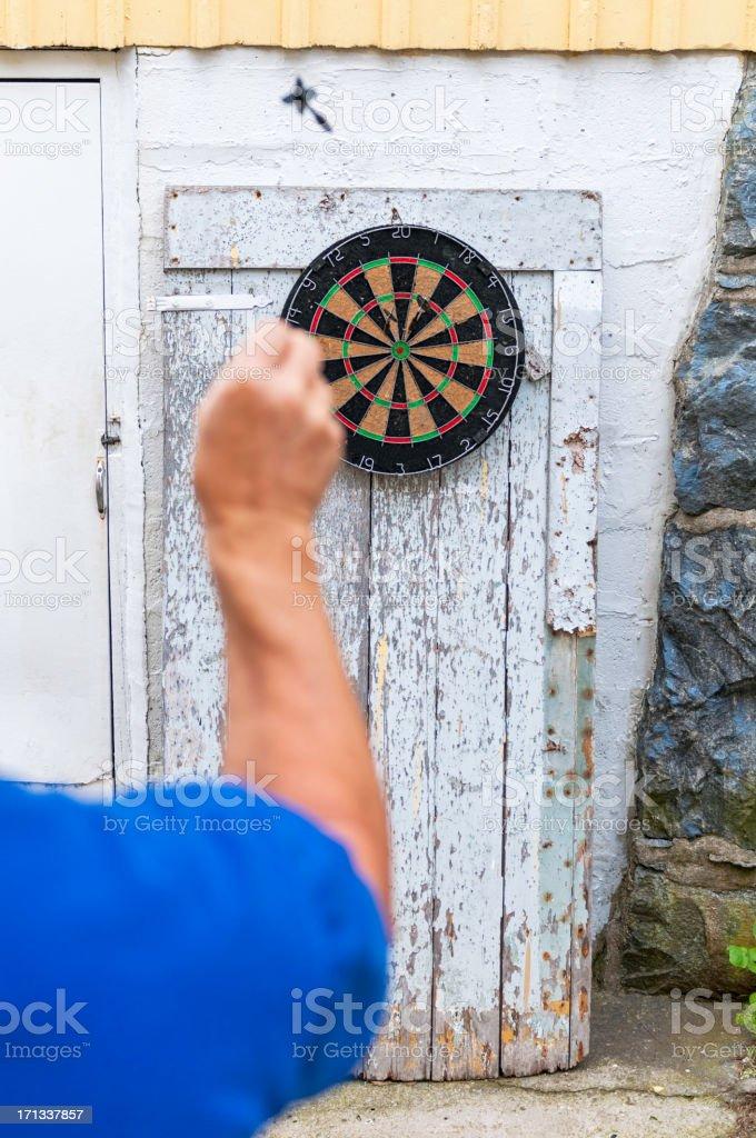 Outdoor Darts, flying dart. royalty-free stock photo