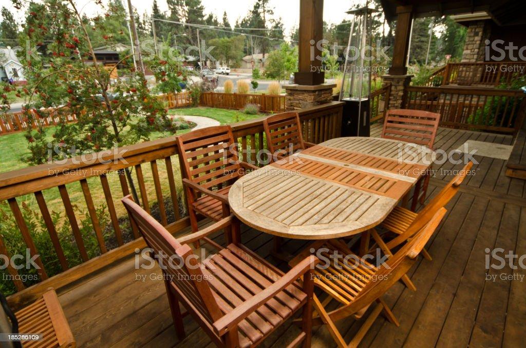 Outdoor deck stock photo