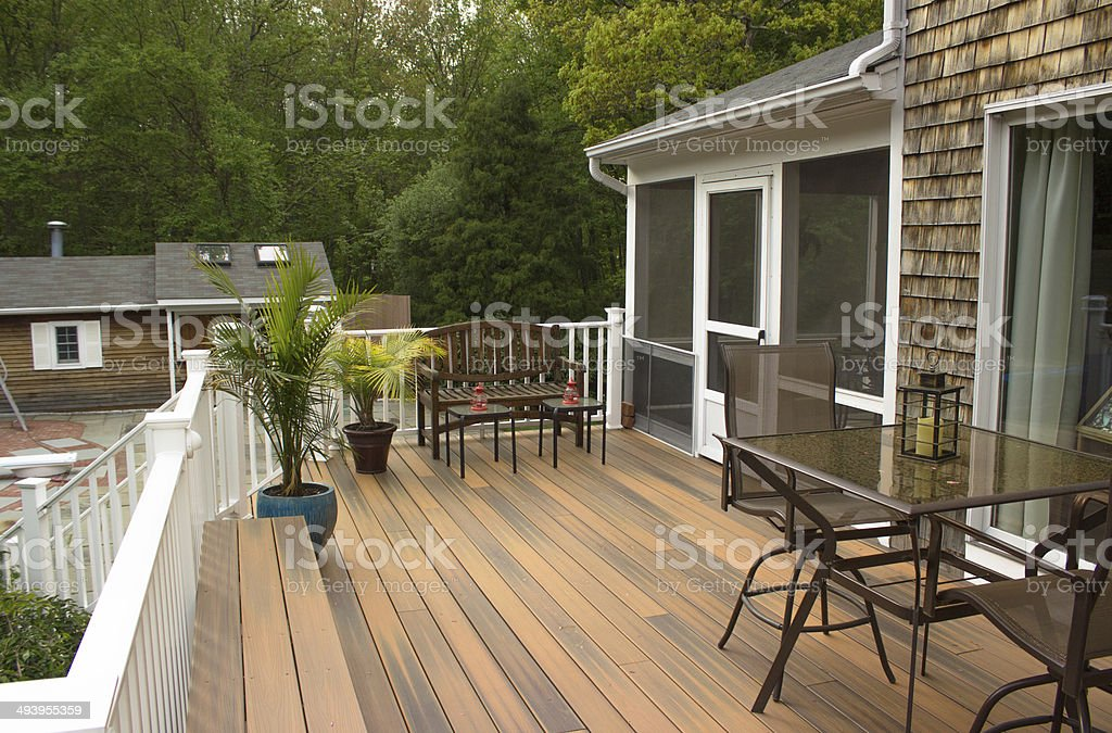 Outdoor Deck stock photo