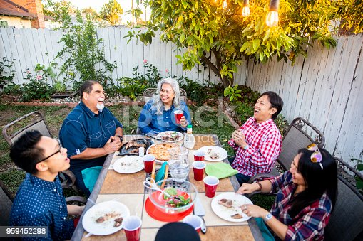 istock Outdoor Dinner on Beautiful Summer Evening 959452298