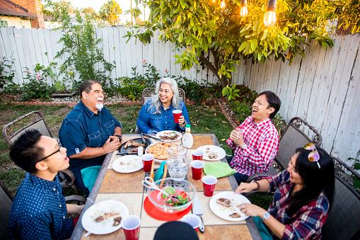 istock Outdoor Dinner on Beautiful Summer Evening 959452298