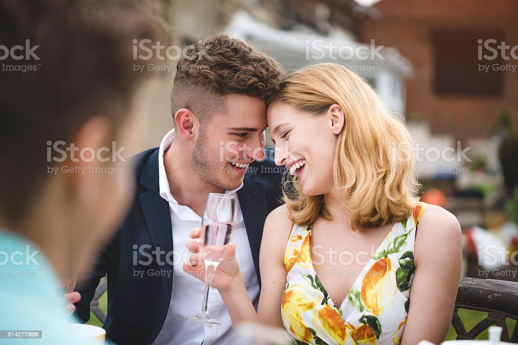 Outdoor Dinner Party stock photo
