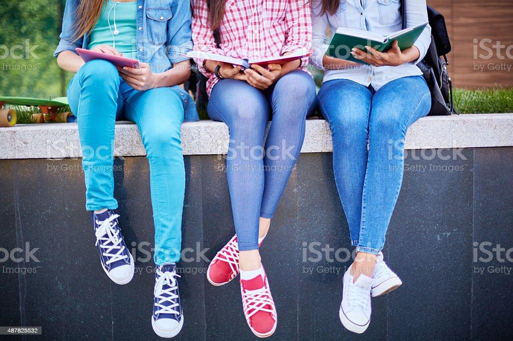 Outdoor education stock photo