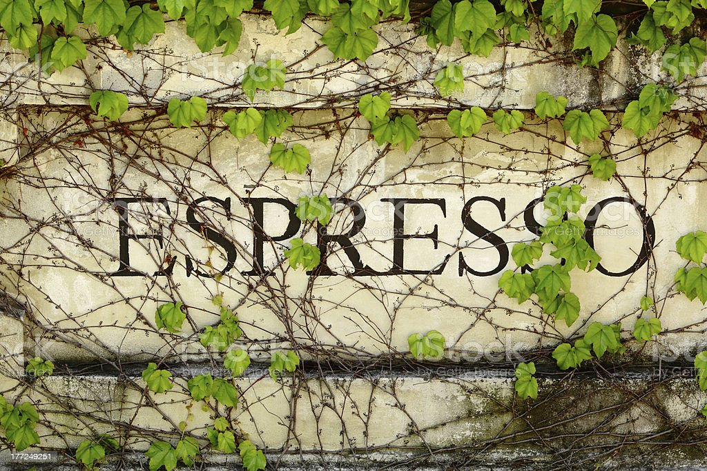 Outdoor Espresso Sign royalty-free stock photo