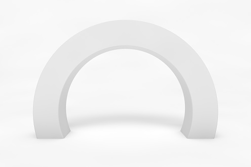 Outdoor event round arch isolated on white background