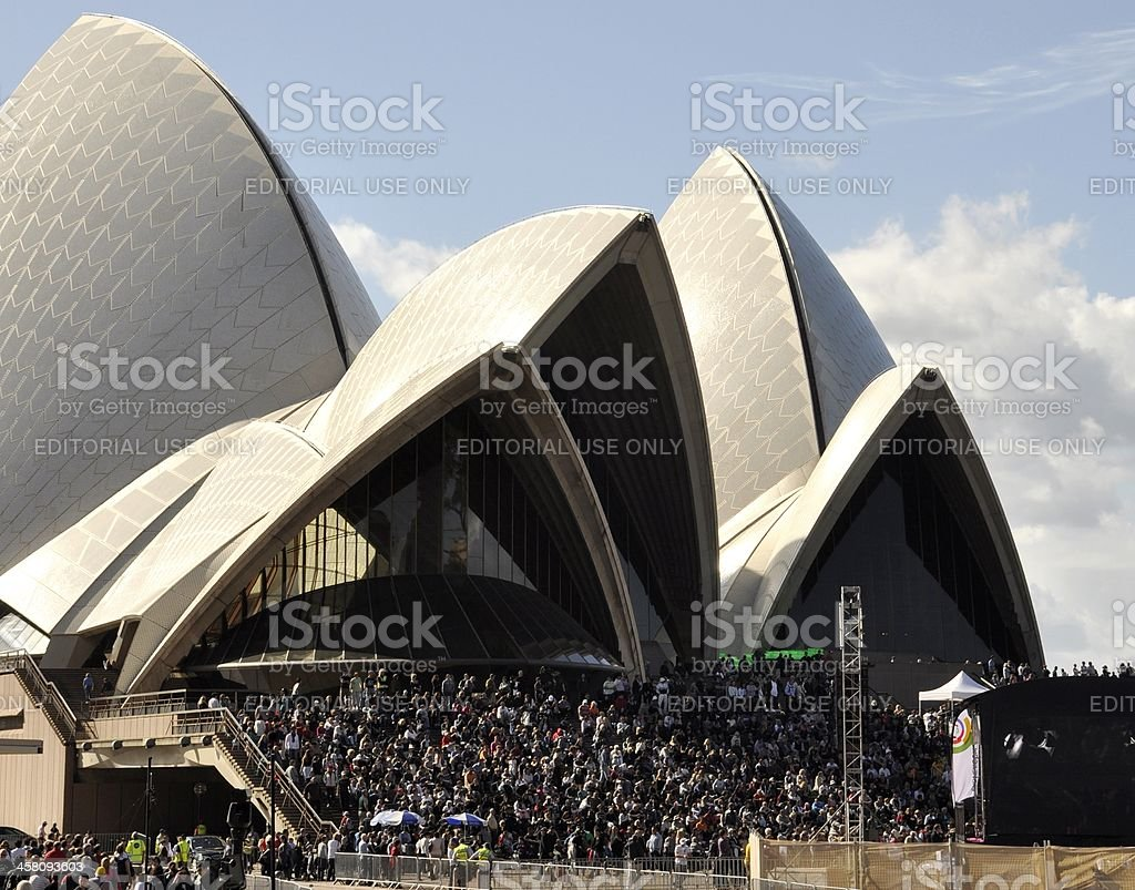 Outdoor event Sydney Opera royalty-free stock photo