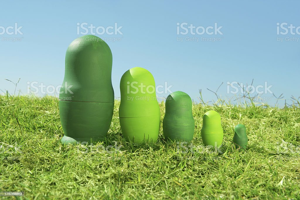 Outdoor family stock photo