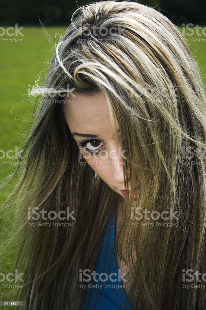 outdoor fashion portrait stock photo