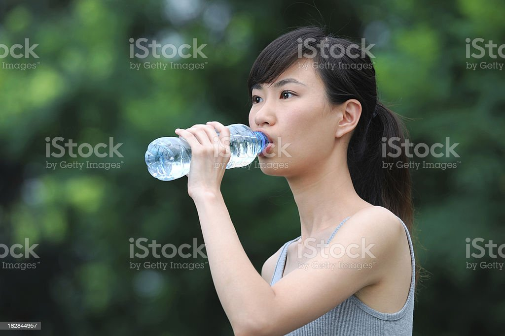 Outdoor Fitness and Drinking Water - XLarge royalty-free stock photo