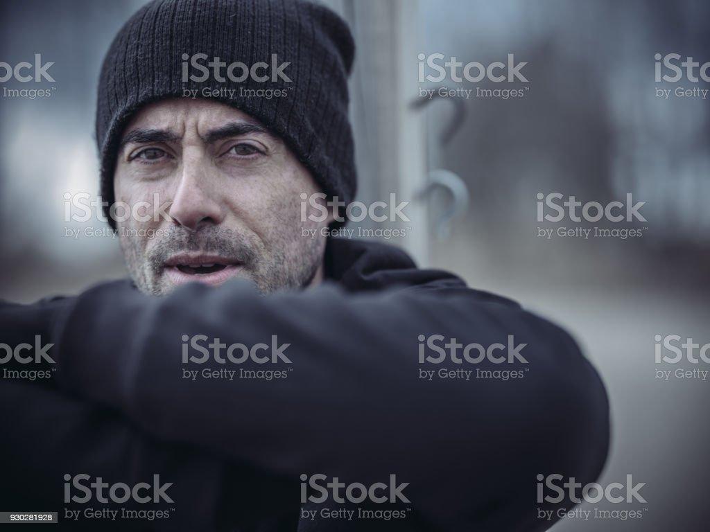 Outdoor fitness in winter - foto stock