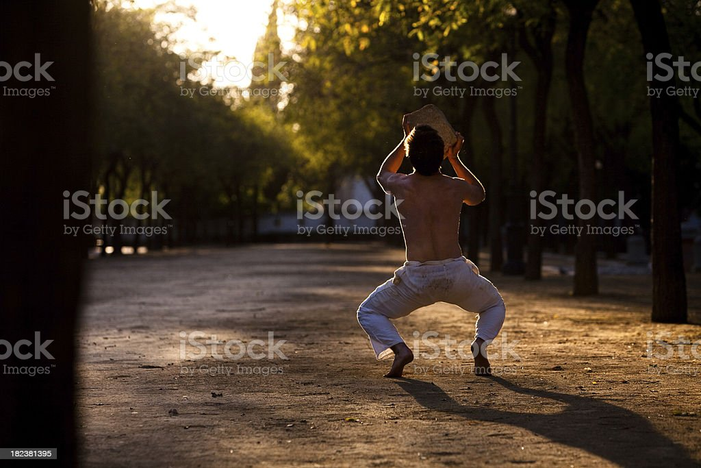 Outdoor fitness training royalty-free stock photo