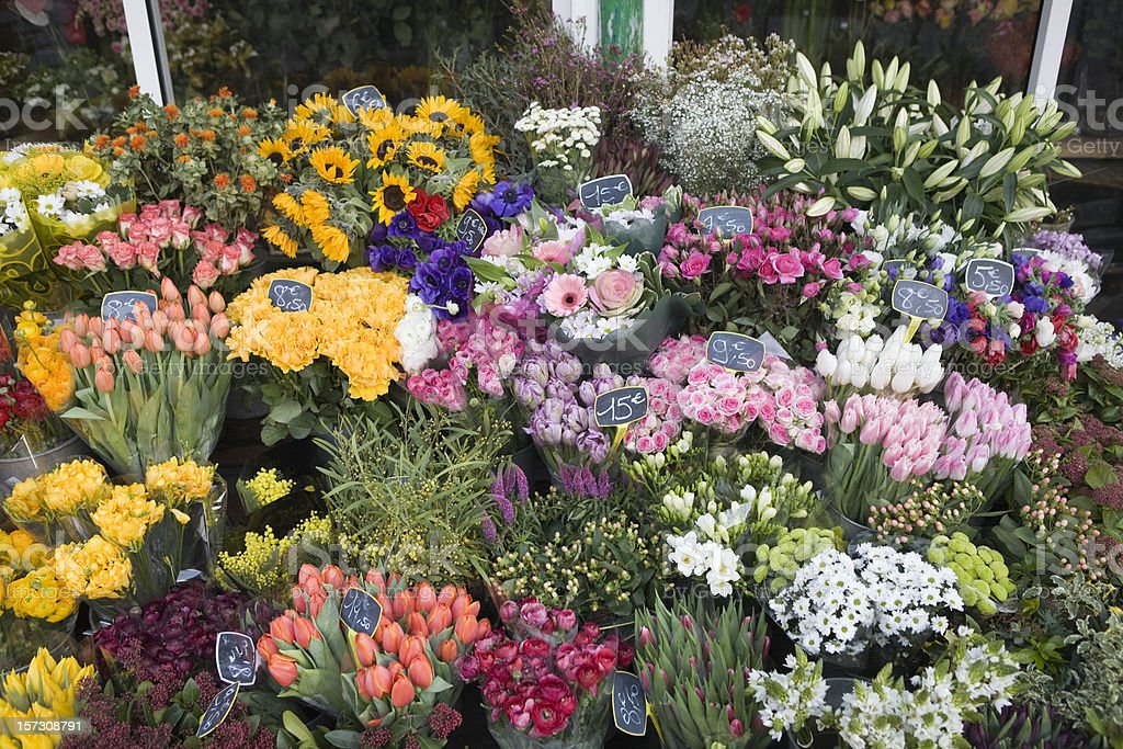 Outdoor flower market in Paris, France royalty-free stock photo