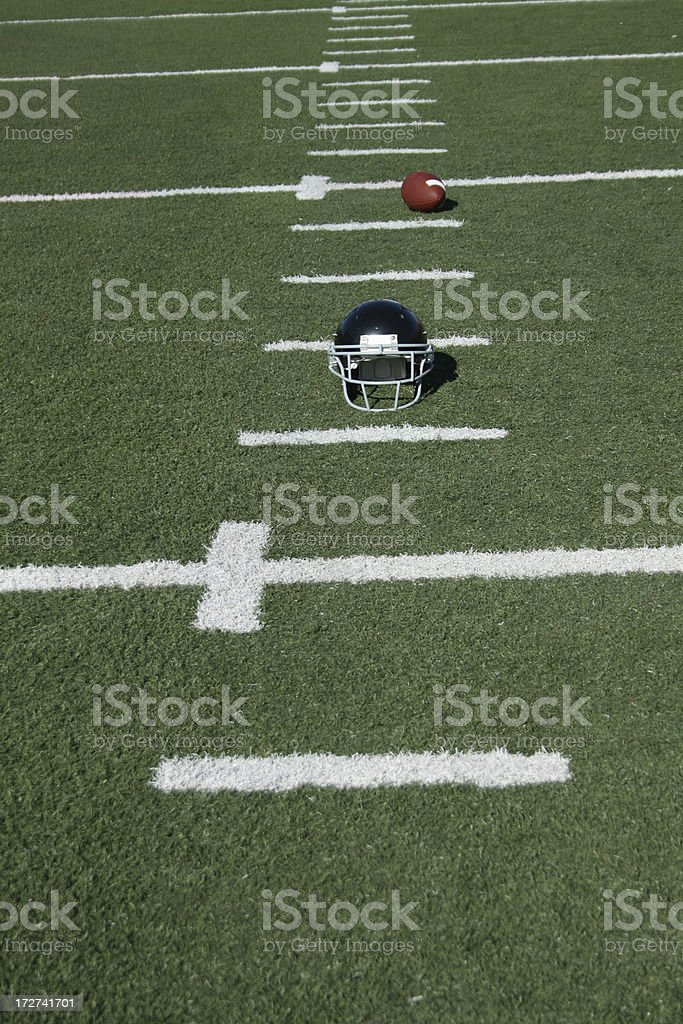 Outdoor football field royalty-free stock photo