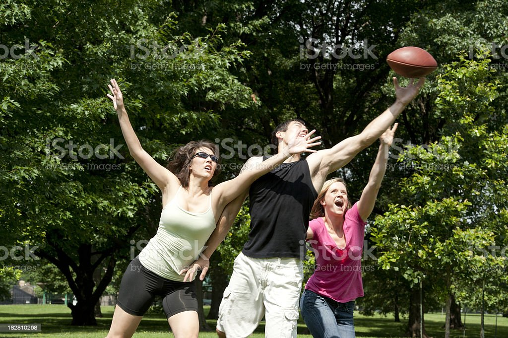 Outdoor Football in the Park stock photo