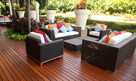 shot of outdoor furnitures