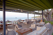 istock Outdoor furnitures near beach and sea 1303394980