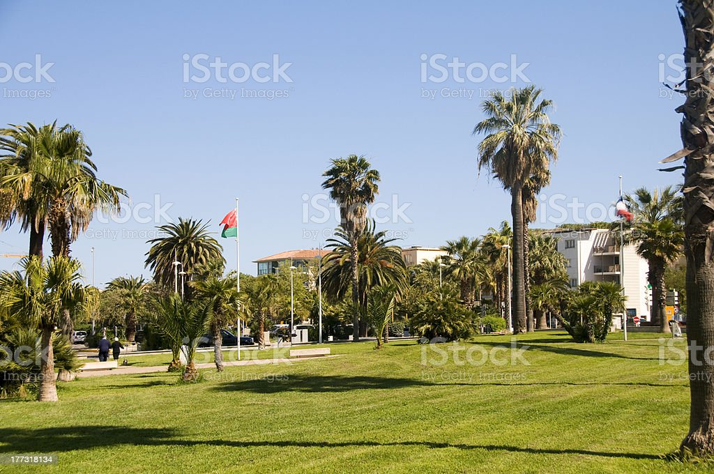 outdoor garden park Antibes France French Riviera stock photo
